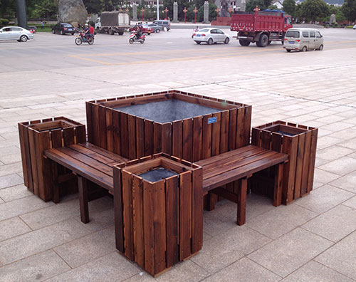 重庆防腐木花箱