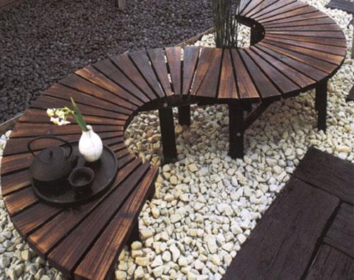 碳化木板凳